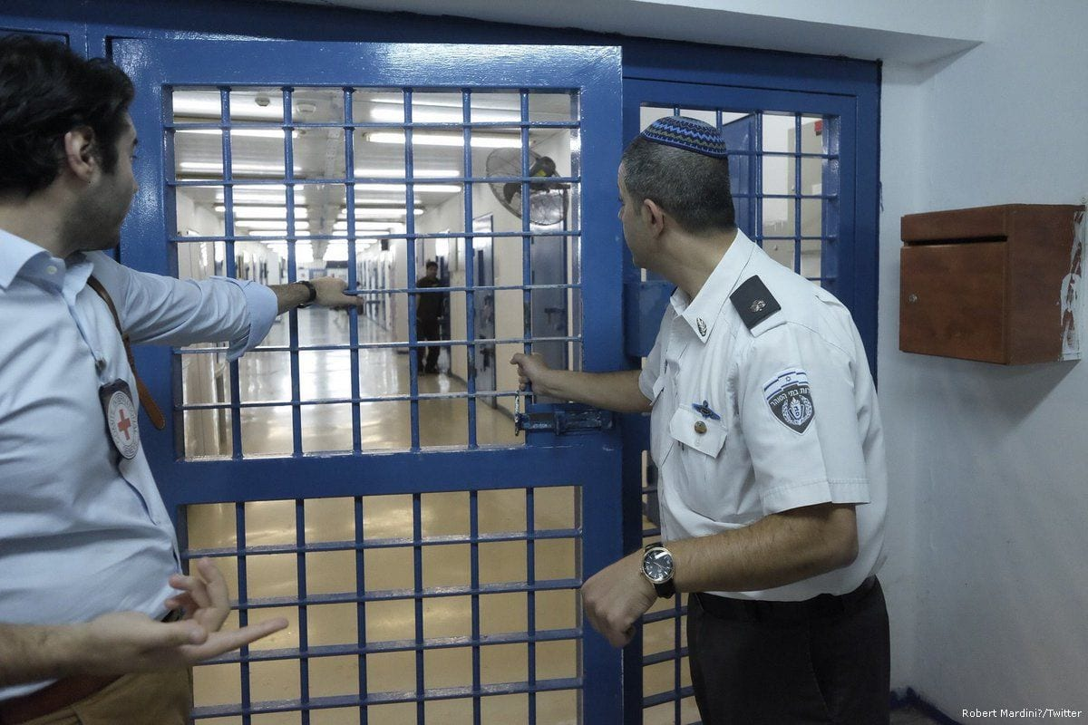 Israeli officers at a prison in Israel on 9 May 2017