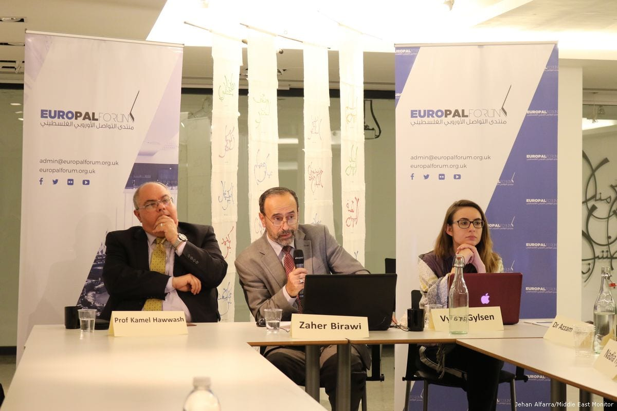 The Europal forum round-table discussion on UK policy towards Palestine on 23rd May 2017 [Jehan Alfarra/Middle East Monitor]