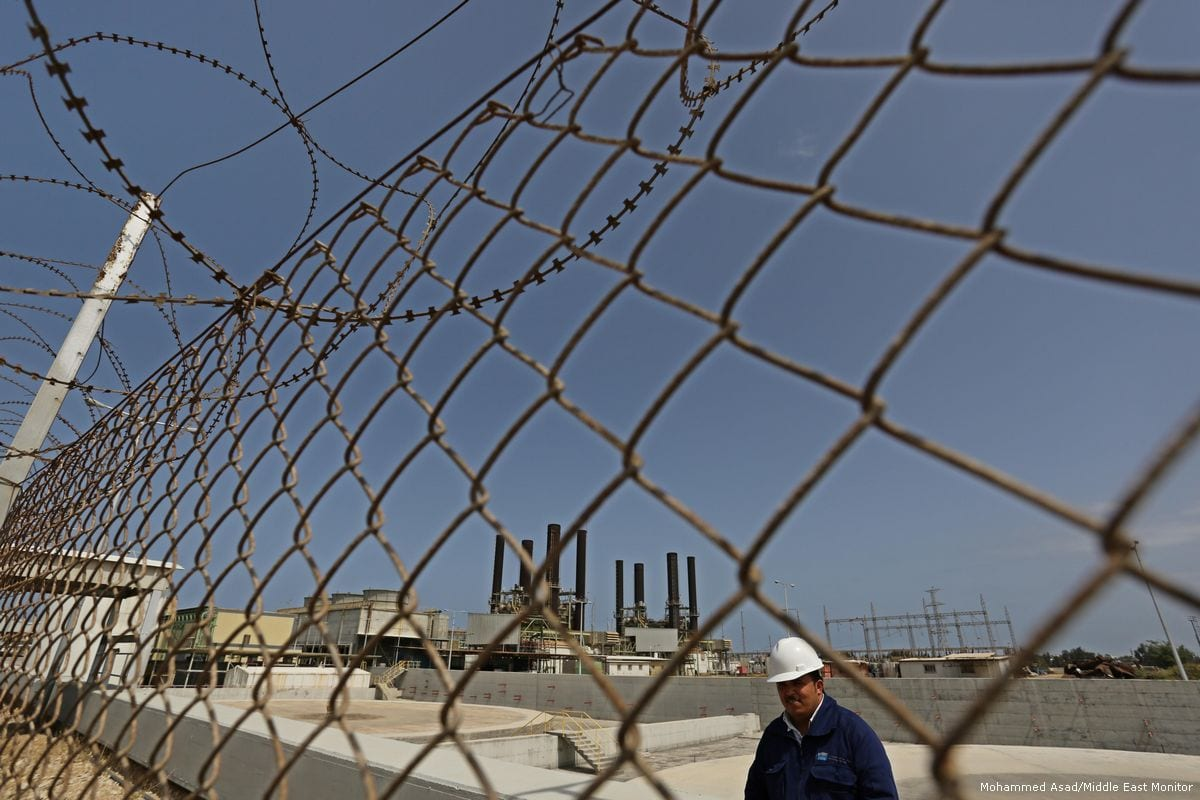 Image of the electricity plant in Gaza [Mohammed Asad/Middle East Monitor]