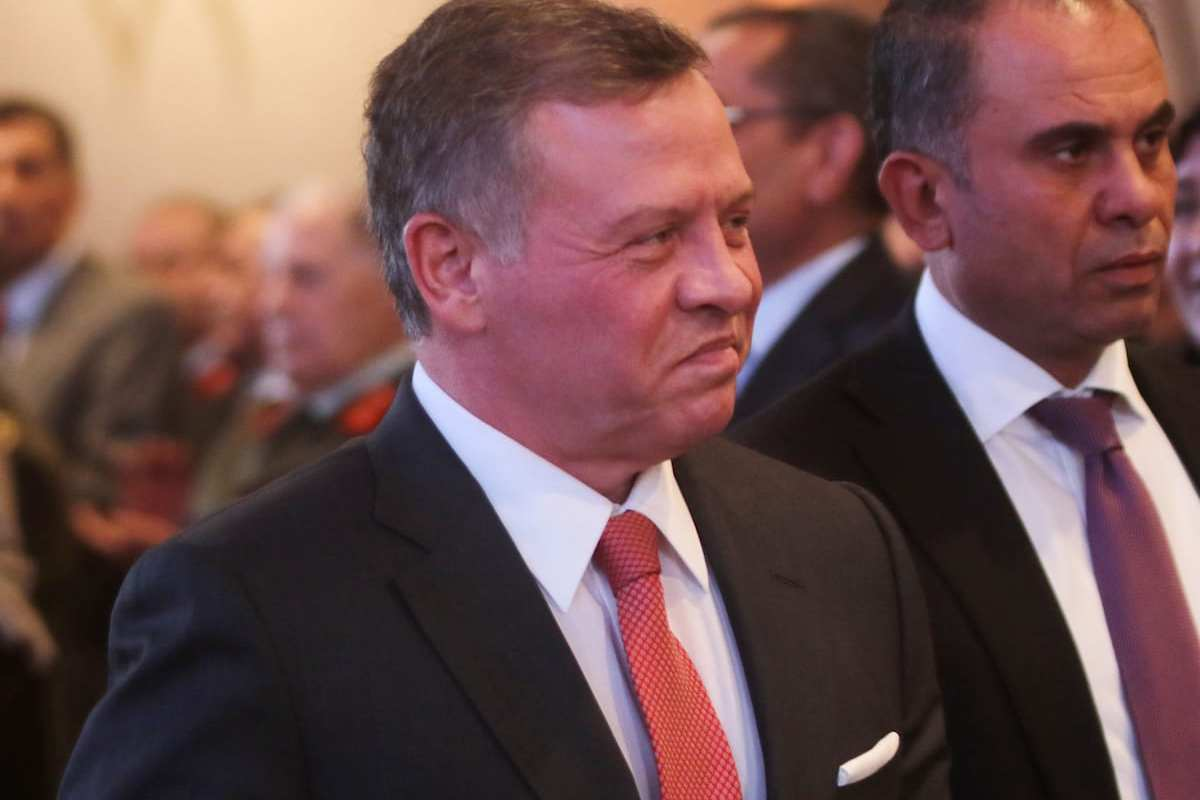 King Abdullah II Bin Al-Hussein (L) of Jordan attends the 71st Independence Day Ceremony at Raghadan Palace in Amman, Jordan on May 25, 2017 [Salah Malkawi/ Anadolu Agency]