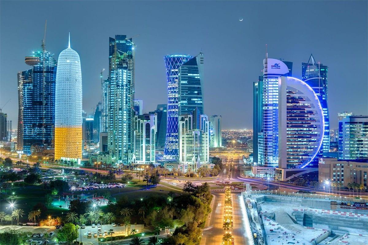 File photo of the sky line in Doha, Qatar