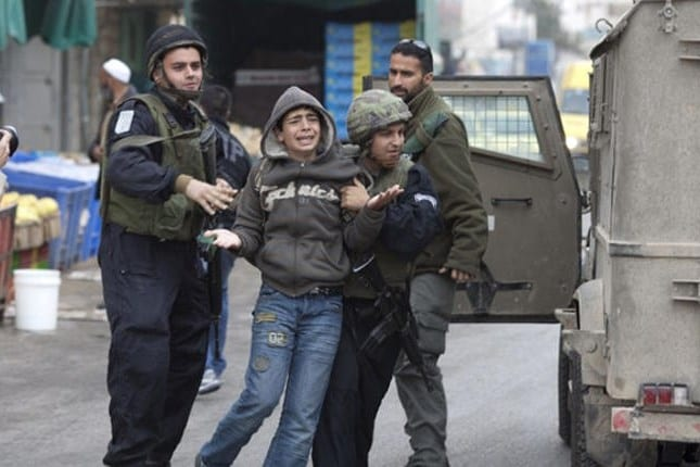 Image of Israeli forces arresting Palestinian children [file photo]