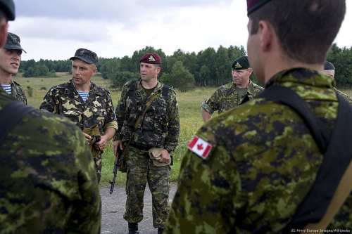 Image of Canadian troops on 26 July 2011 [US Army Europe Images/Wikipedia]
