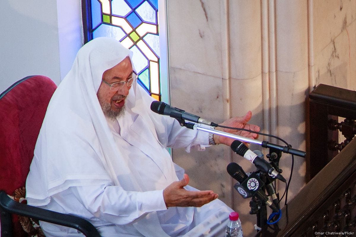Image of Sheikh Yusuf Al-Qaradawi on 12 September 2012 [Omar Chatriwala/Flickr]