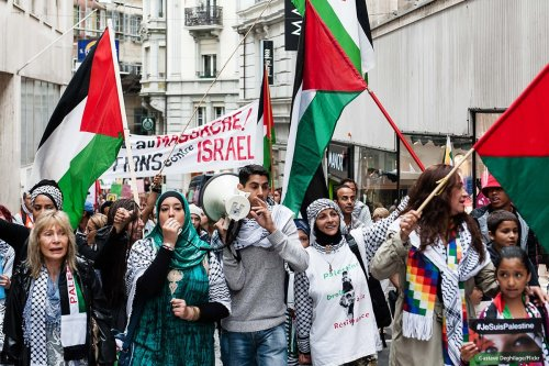 Image of a pro Palestinian protest in Lausanne, Switzerland on 22 July 2014 [Gustave Deghilage/Flickr]