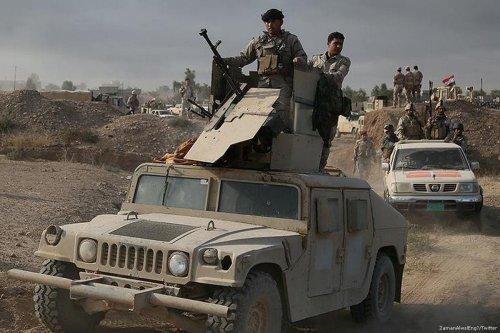 Image of Shia Iraqi militias on 19 November 2016 [ZamanAlwslEng/Twitter]