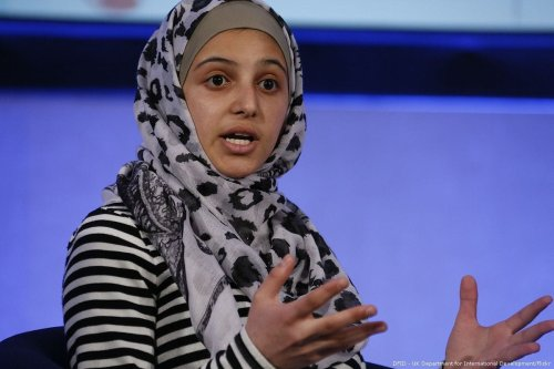 Image of Syrian activist Muzoon Almellehan at the Girls' Education Forum in London, UK on 7 July 2016 [DFID//Flickr]