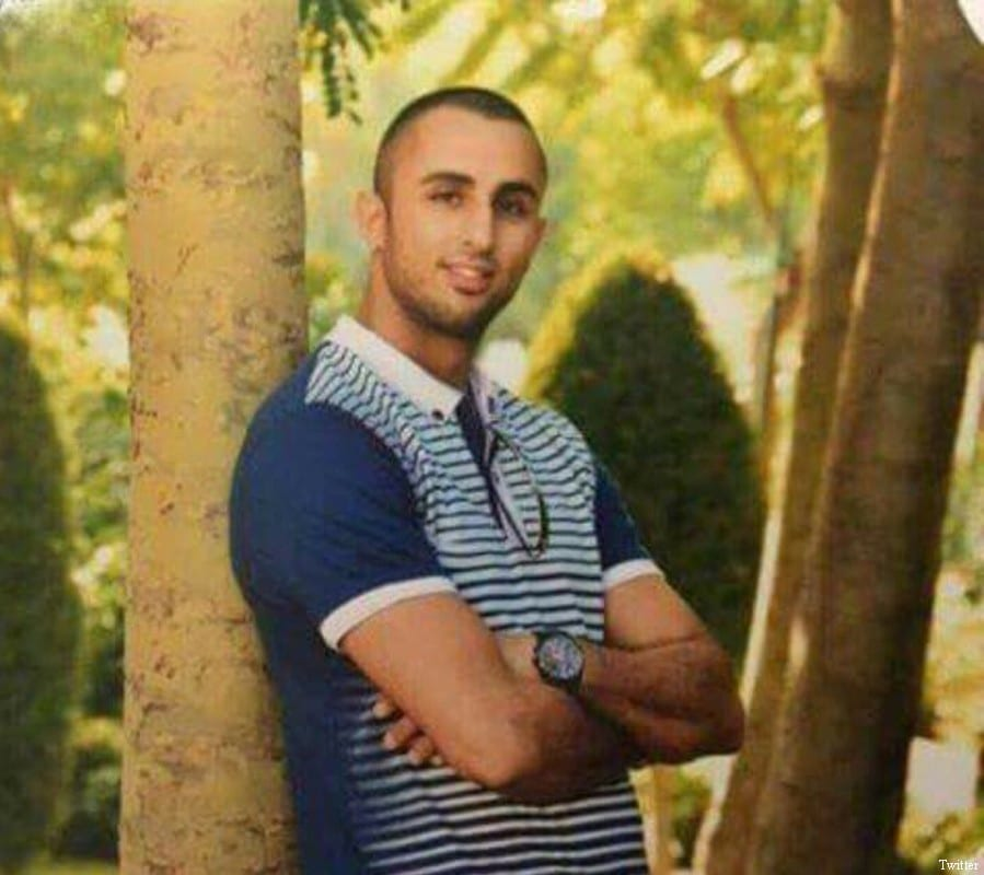Palestinian young man, Ahmed Mahmoud Taha was shot and killed by Israeli police in Kafr Qasim Town on 5 June, 2017 [Twitter]