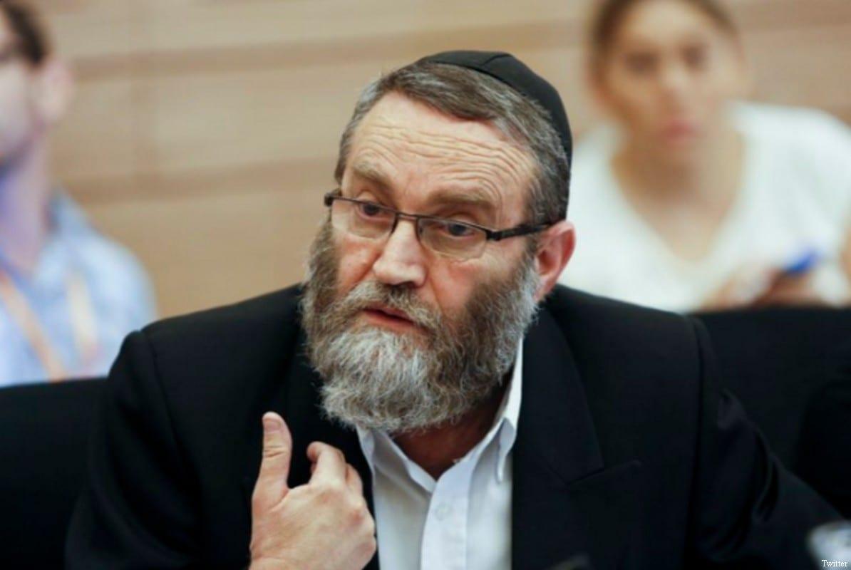 Moshe Gafni, right-wing Israeli MK [Twitter]
