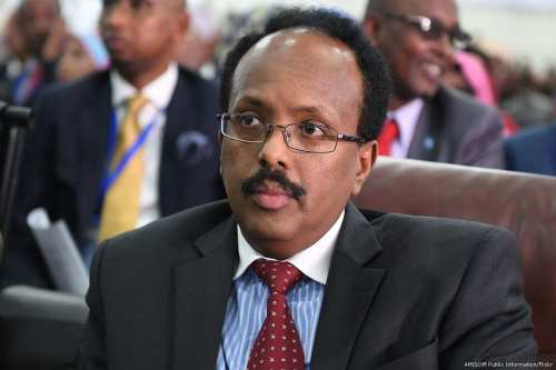Image of Somali President, Mohamed Abdullahi Farmajo on 8 February 2017 [AMISOM Public Information/Flickr]