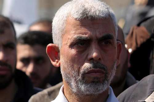 Image of Yahya Al-Senwar, the new Hamas leader in the Gaza Strip on 25 March 2017 [Ashraf Amra/Apaimages]