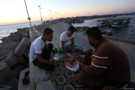 GAZA CITY, GAZA- Breaking the fast with a view