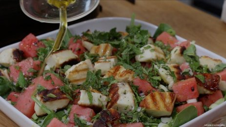 You've Been Served Ramadan special: Amardeen, watermelon and halloumi salad, and fish