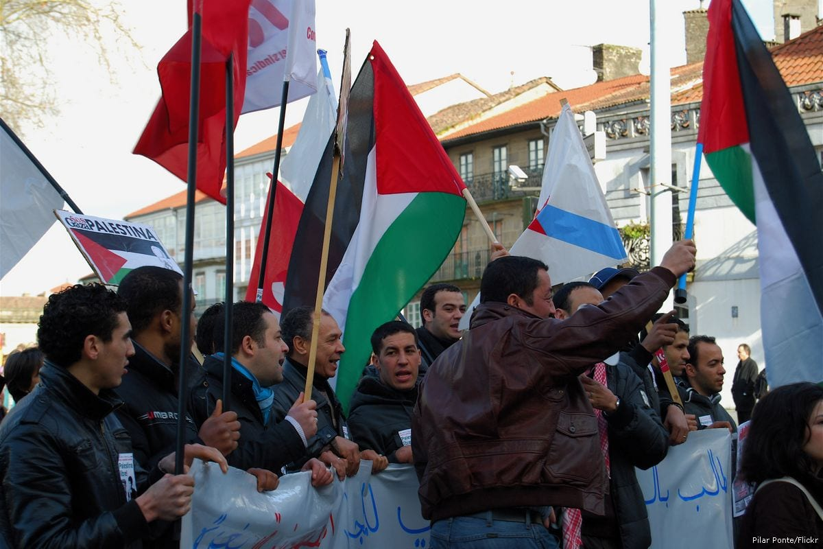 Image of a Palestinian rally in Galicia, Spain on 18 January 2013 [Pilar Ponte/Flickr]