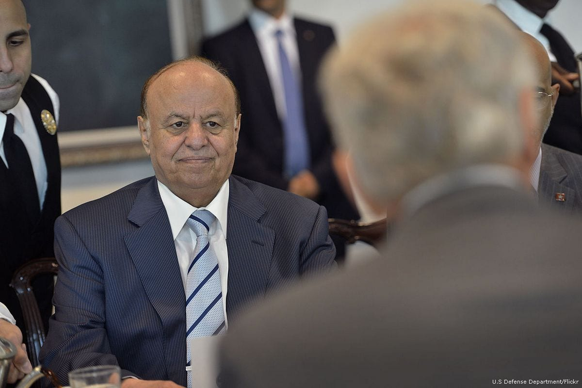 Image of Abd Rabbuh Mansur Hadi, president of Yemen on 30 July 2013 [U.S Defense Department/Flickr]