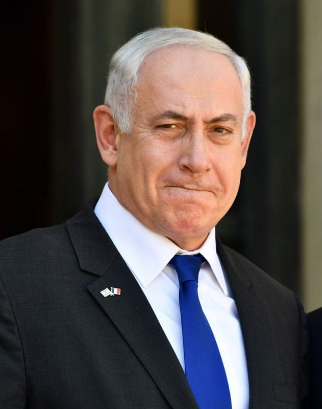 Israeli Prime Minister Benjamin Netanyahu arrives at the Elysee Palace for a meeting with French President Emmanuel Macron in Paris, France on July 16, 2017 [Mustafa Yalçın / Anadolu Agency]