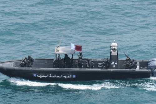 Military ships belonging to Qatar in Doha, Qatar on 16 July, 2017 [Qatari Defense Ministry/Handout/Anadolu Agency]