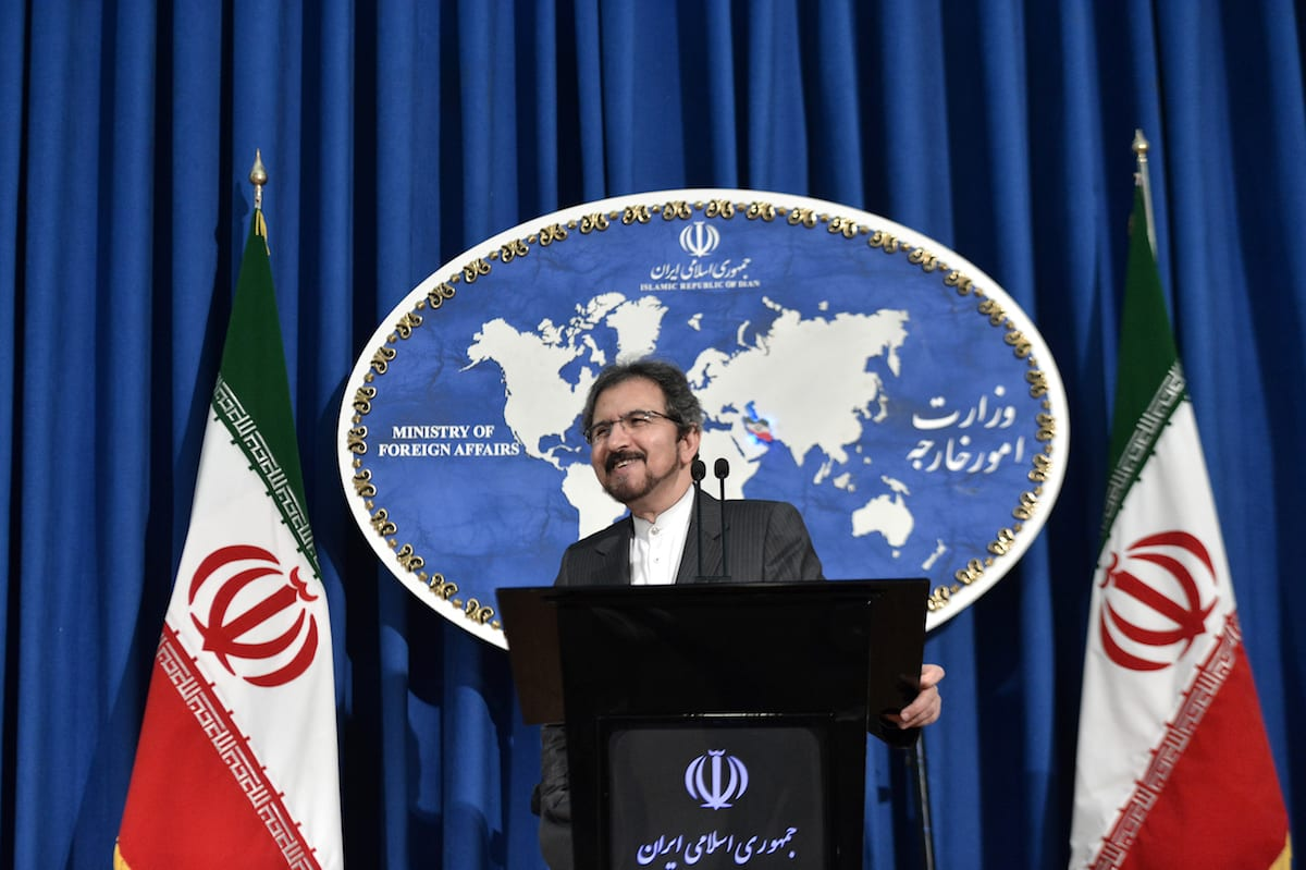 Iranian Foreign Ministry spokesman, Bahram Ghasemi holds a press conference at the Foreign Ministry building in Tehran, Iran on 24 July, 2017 [Fatemeh Bahrami/Anadolu Agency]