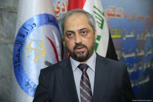Iraqi Minister of Justice, Haidar Al Zamily speaks during an interview in Bagdad, Iraq on 17 July, 2017 [Haydar Hadi/Anadolu Agency]