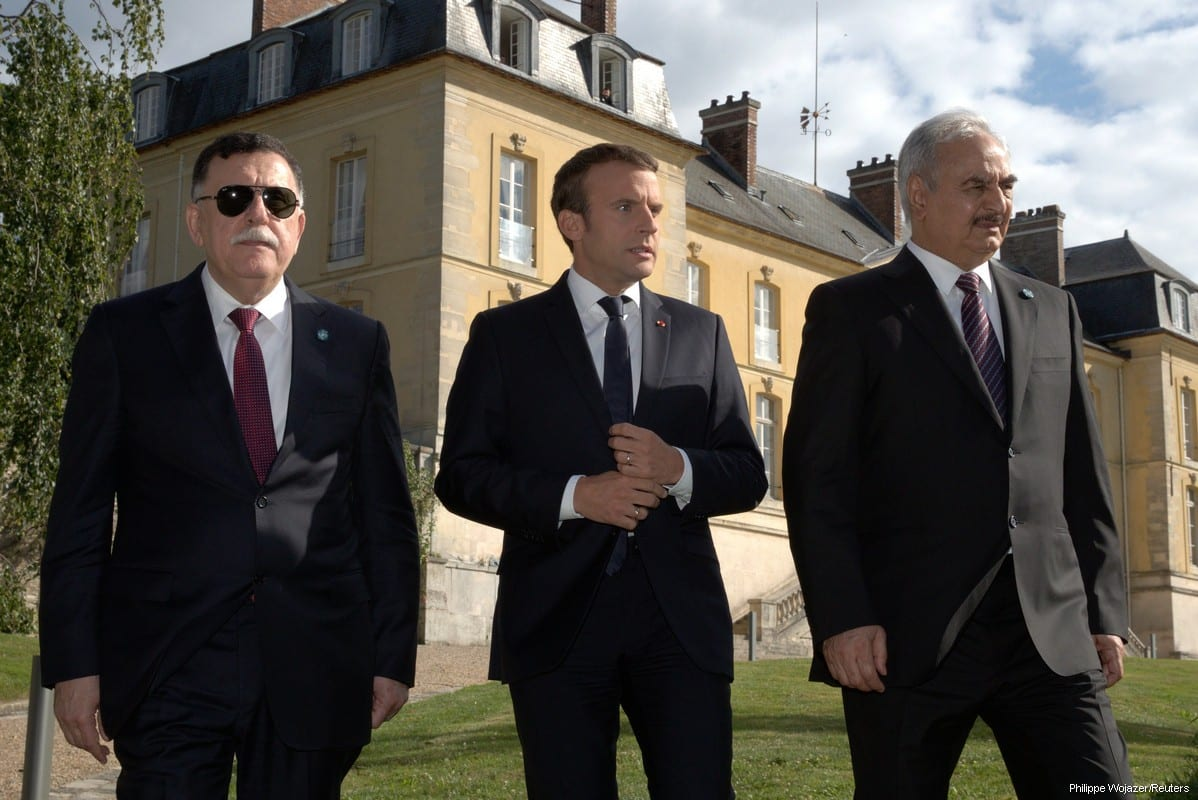 French leader plays peacemaker, hosting top Libyan rivals