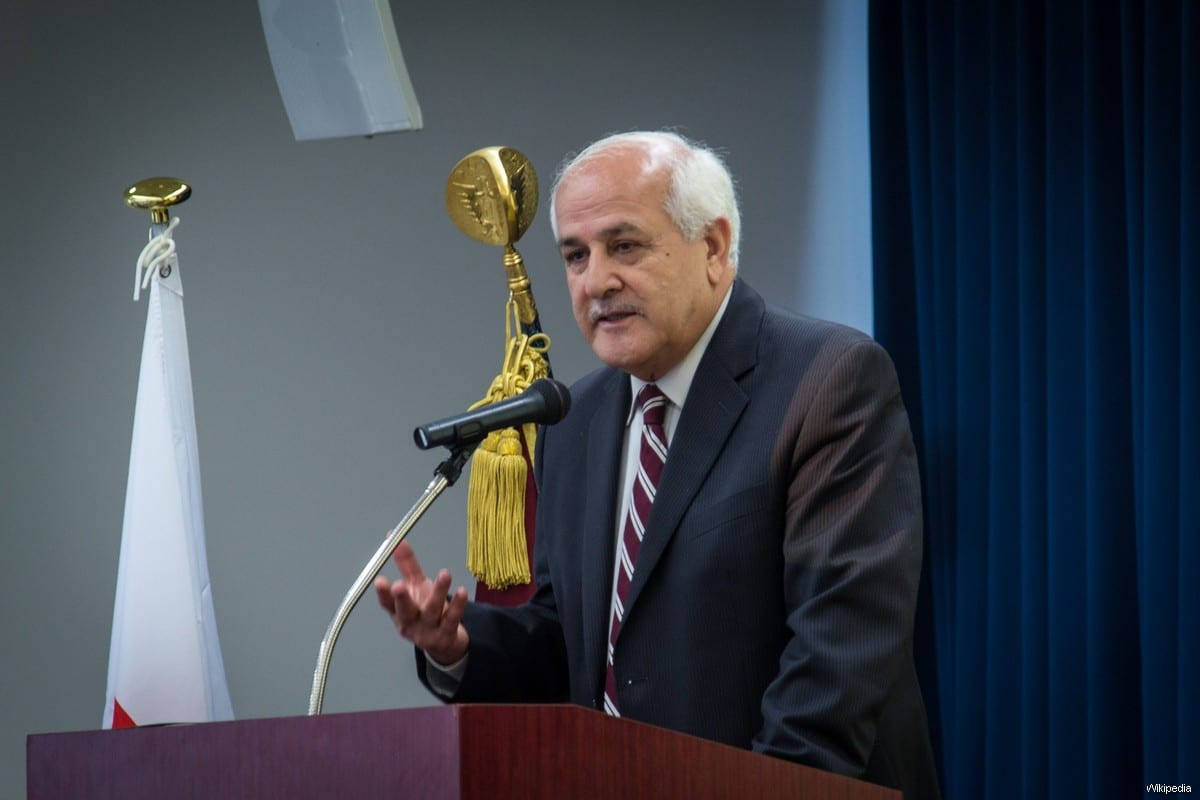 Palestinian Authority's observer at the UN, Riyadh Mansour [Wikipedia]