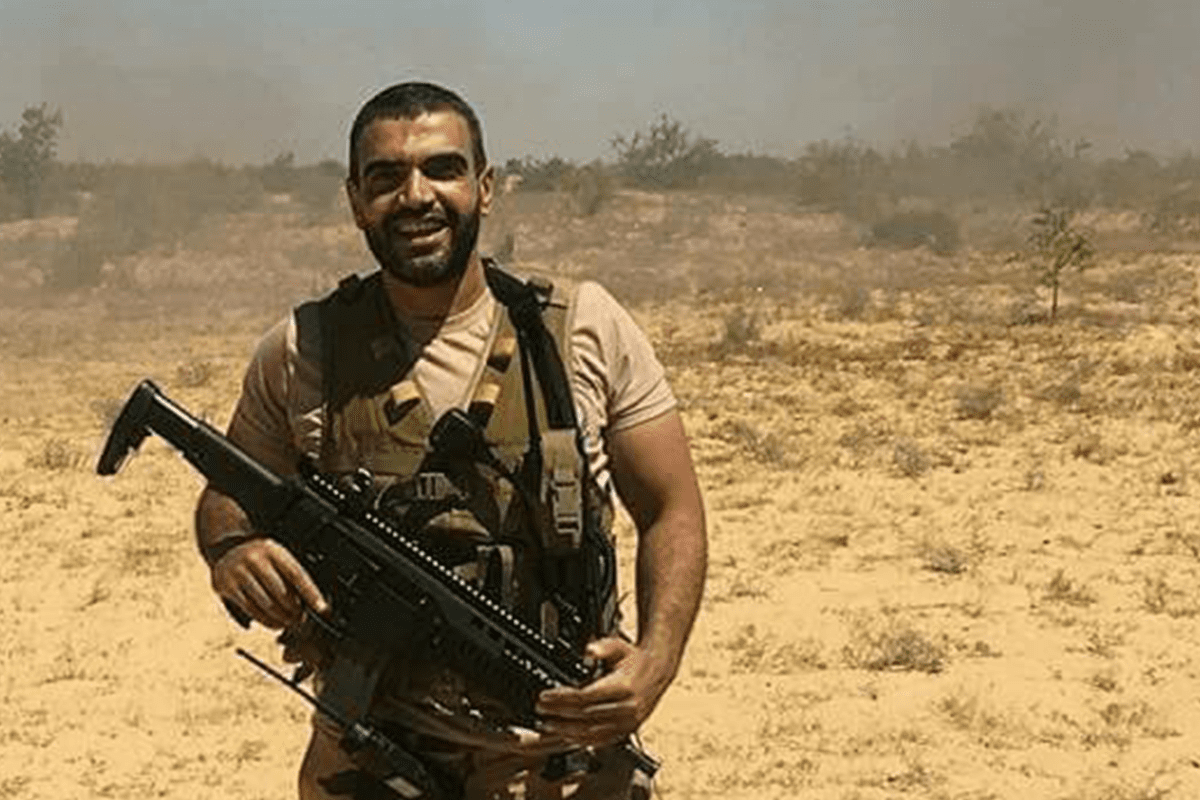 Image of Colonel Ahmed Mansa, an Egyptian soldier who was killed after a bomb exploded in Sinai, Egypt