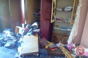 Image of the al-Abed family home after it was ransacked by Israelis following 19 year old Omar al-Abed's stabbing of 3 Israeli settlers, on July 21, 2016 [Maan News Agency]