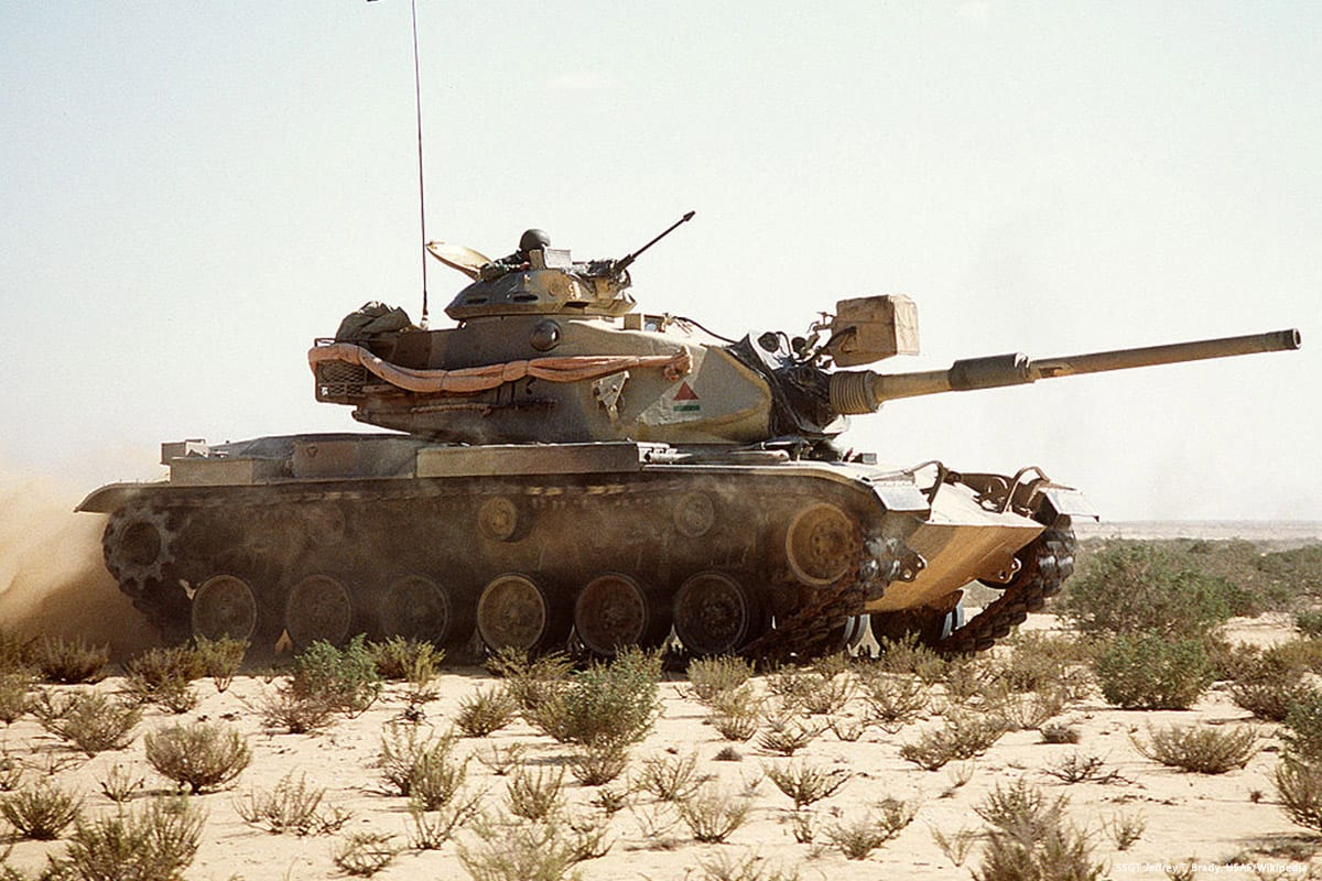 Image of an Egyptian army tank [SSGT Jeffrey T. Brady, USAF/Wikipedia]
