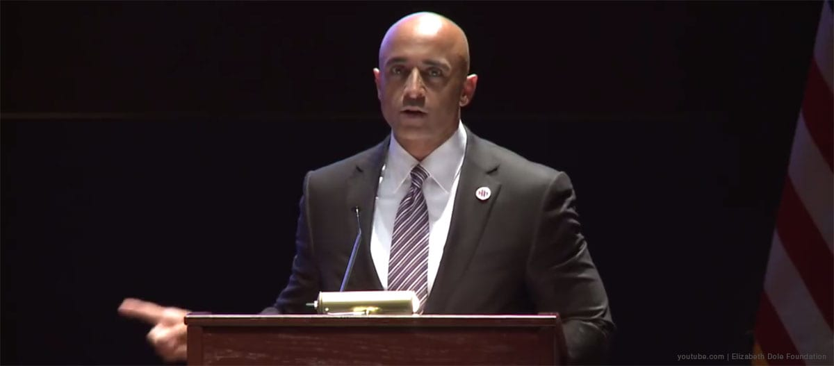 Ambassador of the UAE in Washington, Yousef al-Utaiba. [Image: youtube.com | Elizabeth Dole Foundation]