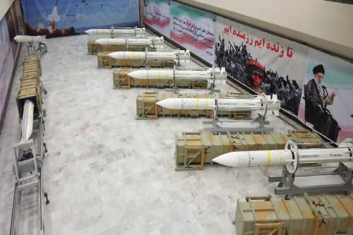 Iran's new Sayyad-3 air defence missiles seen at their new production facility, unveiled on July 22, 2017. The Sayyad-3 missiles are able to travel 75 miles and reach an altitude of 17 miles. [Iranian Ministry of Defence]