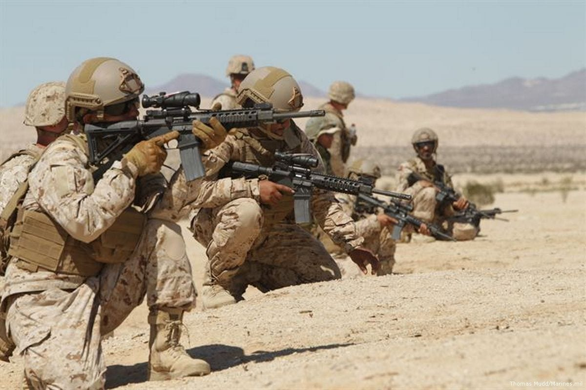 UAE soldiers seen during a training excercise with US troops [Thomas Mudd/Marines.mil]