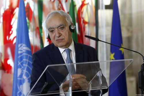 UN Special Envoy for Libya Ghassan Salame speaks during a joint press conference with Italian Foreign Minister Angelino Alfano (not seen) following their meeting at the Farnesina Foreign Ministry headquarters in Rome, Italy on August 08, 2017 [Riccardo de Luca / Anadolu Agency]