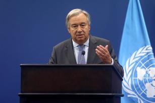 United Nations Secretary General Antonio Guterres urged Israel and Egypt to lift their 10-year-long blockade of Gaza, which effectively bars access to the coastal enclave by air, land and sea. [Issam Rimawi/Anadolu Agency]