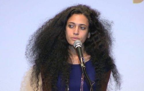 Author of Salt Houses: A story of Palestinians without Palestine, Hala Alyan. [Vimeo/Deep Dish TV]