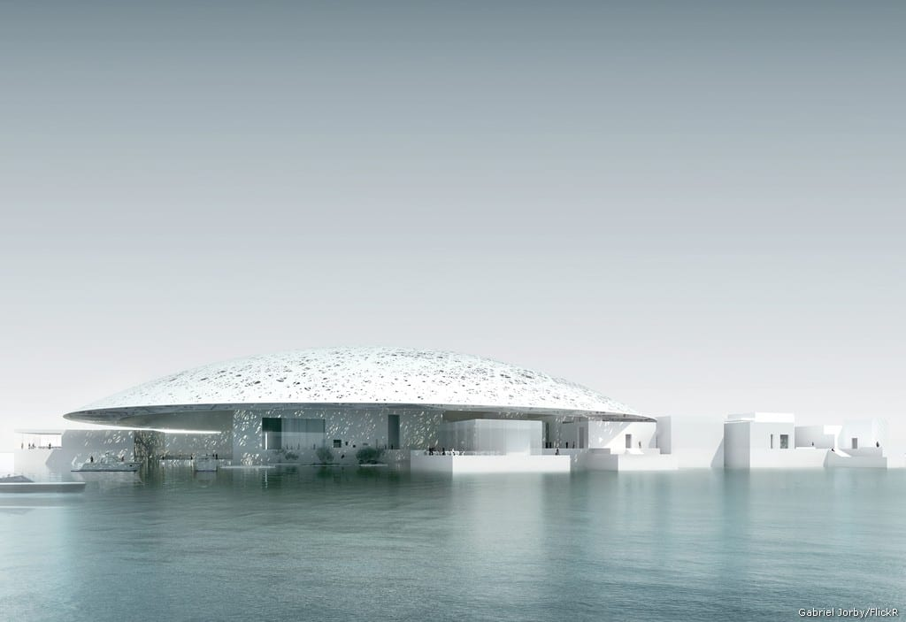 Exterior view of the New Louvre museum in Abu Dhabi, UAE which will open on 11 November, 2017 [Gabriel Jorby/FlickR]