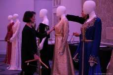 Designers add the finishing touches to their work at London Fashion Week! [Jehan Alfarra/Middle East Monitor]