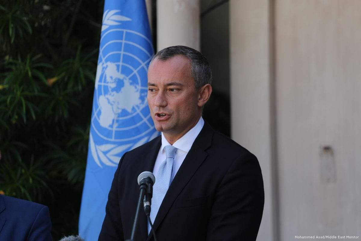 UN Special Coordinator for the Middle East Peace Process, Nikolay Mladenov in Gaza on 25 September 2017 [Mohammed Asad/Middle East Monitor]