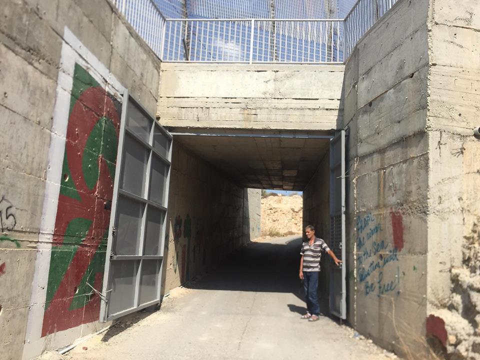 Palestinian Omar Hajajleh's house is now separated from the rest of the occupied West Bank. [Quds News]
