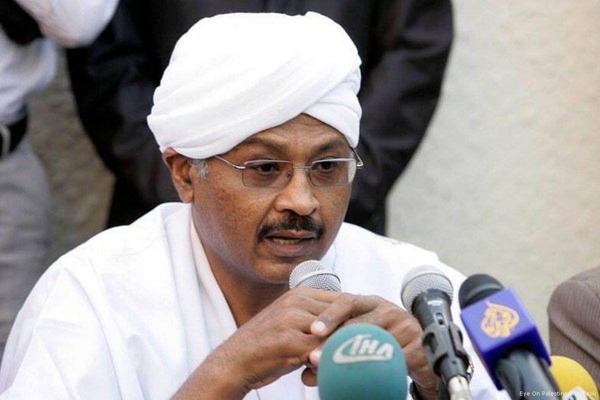 Head of Sudan Umma Party Mubarak Al-Fadil Al-Mahdi [Eye On Palestine/Facebook]
