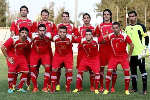 Syria's national football team in 2015 [Tasnim News Agency]