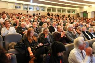 Auditorium of guests attending the Palestine, Britain and the Balfour Declaration 100 years on. conference [Jehan Alfarra/Middle East Monitor]