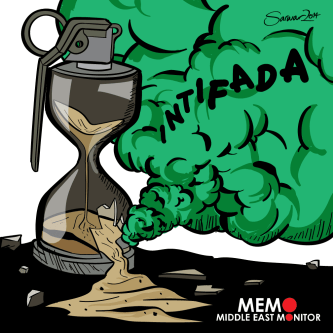 Intifada - Cartoon [Sarwar Ahmed/MiddleEastMonitor]