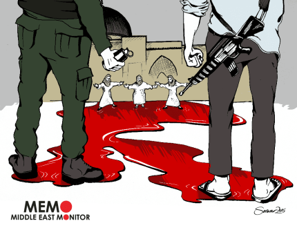 Al-Aqsa Defenders - Cartoon [Sarwar Ahmed/MiddleEastMonitor]