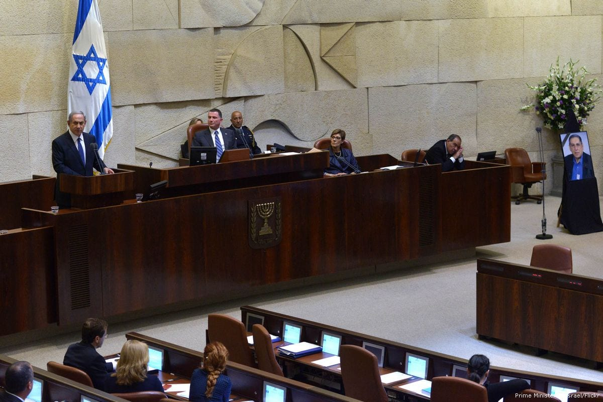 Israeli Prime Minster, Benjamin Netanyahu gives a speech during a Knesset session [Prime Minister of Israel/Flickr]