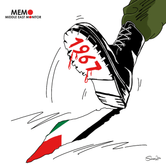 1967 Occupation, Naksa - Cartoon [Sarwar Ahmed/MiddleEastMonitor]