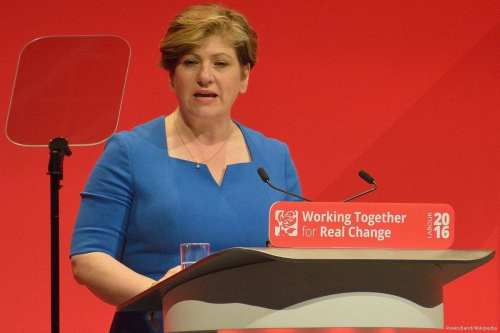 UK's Shadow Foreign Secretary, Emily Thornberry, seen addressing the 2016 Labour Party conference on September 26, 2016 [Rwendland/Wikipedia]