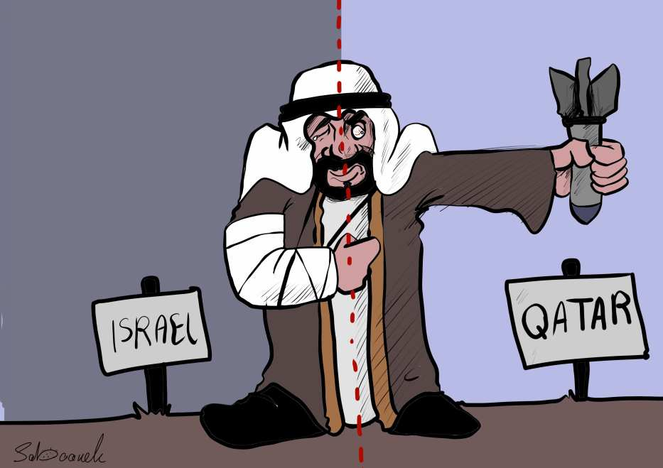 Arabs ready to bomb Qatar - Cartoon [Sabaaneh/MiddleEastMonitor]