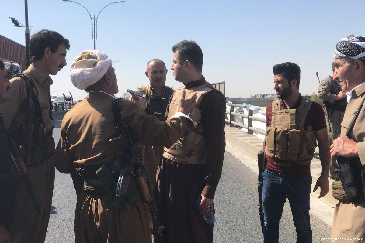 PKK fighters seen in Kirkuk on 16 October 2017 [Stringer/Anadolu Agency]