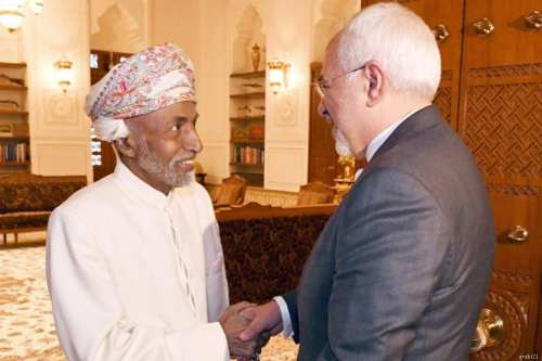 Oman's Sultan Qaboos Bin Said Al Said held talks with the Iranian foreign minister [alkhaleejonline.net]