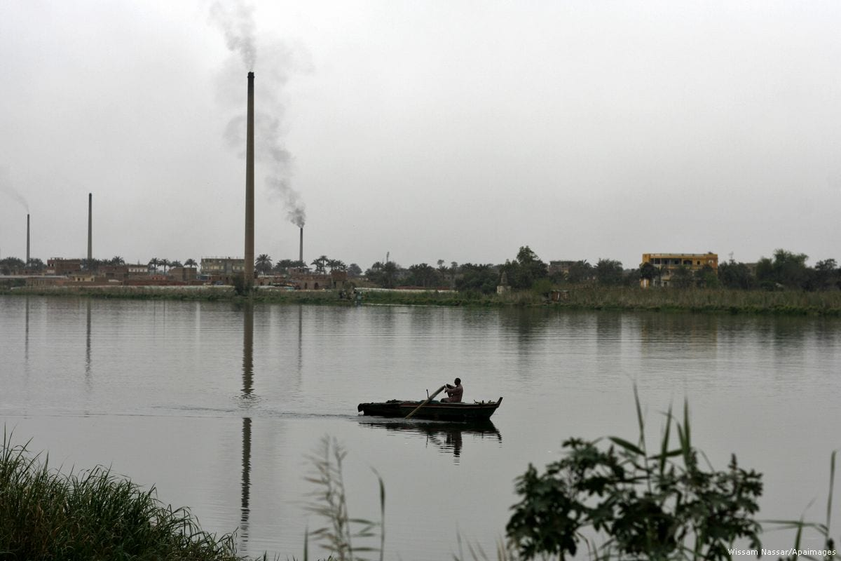 An Egyptian man can be seen on his boat on the river Nile in Cairo, Egypt on 3 April 2011 [Wissam Nassar/Apaimages]